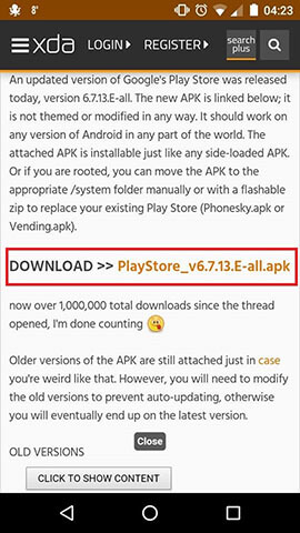 Baixar Play Store apk